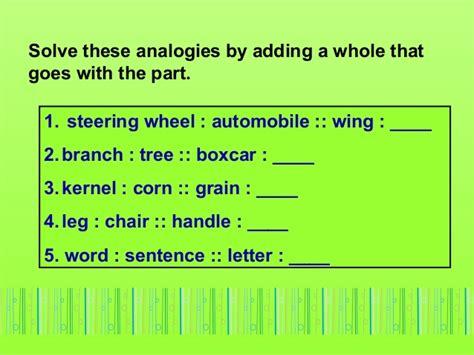 analogies   types  analogies