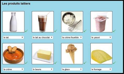 anglais vocabulaire cuisine les produits laitiers jeux alimentation photos