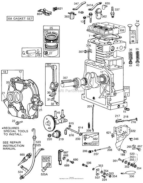 16 Hp Brigg Part Diagram by Briggs And Stratton 195432 0149 01 Parts Diagram For