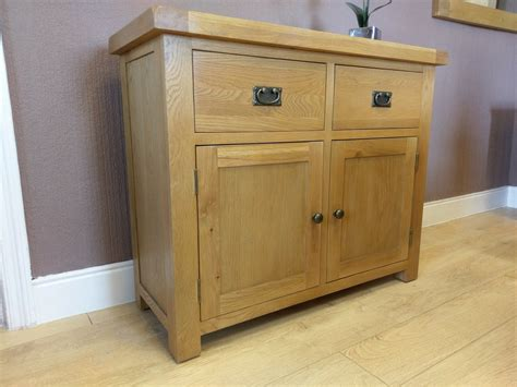 Oak 2 Door Sideboard by Kingsford Solid Oak 2 Door 2 Drawer Sideboard Cupboard