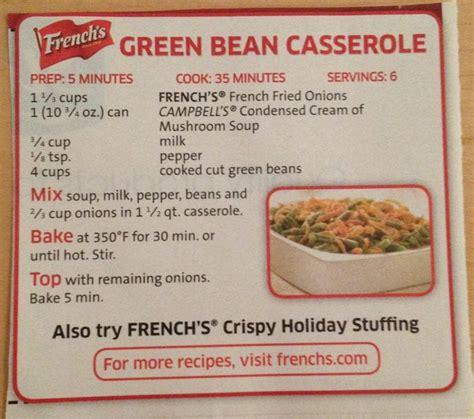 frenchs green bean casserole   green bean