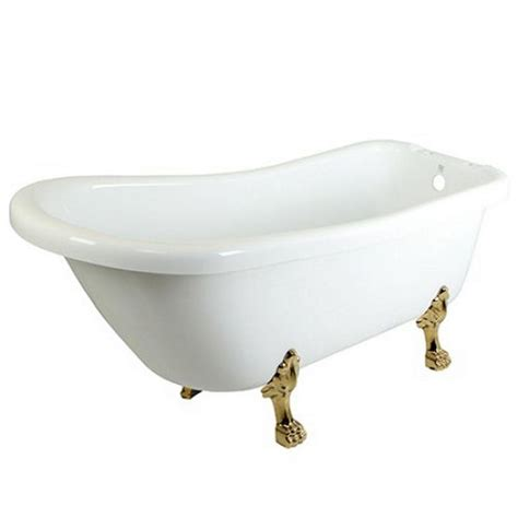 5 foot tub aqua 5 6 ft acrylic polished chrome claw foot