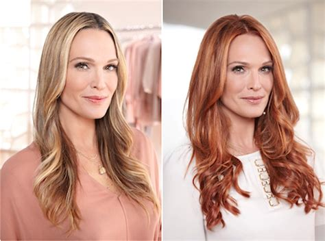 Preview Beforeafter Photos Molly Sims Goes Red With New