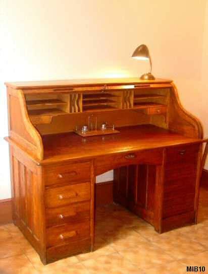 bureau style americain bureau chêne les nouveaux brocanteurs tous les objets de