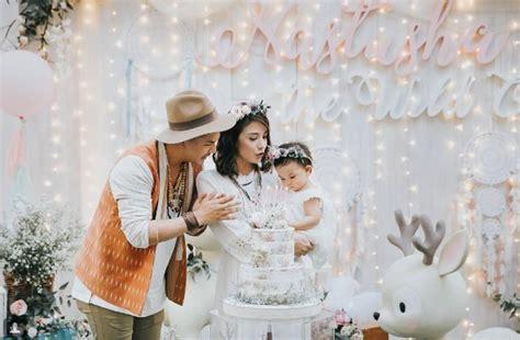 dress code unik  keluarga selebriti  pesta ultah anak