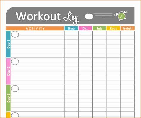 fitness journal template 7 fitness journal template divorce document