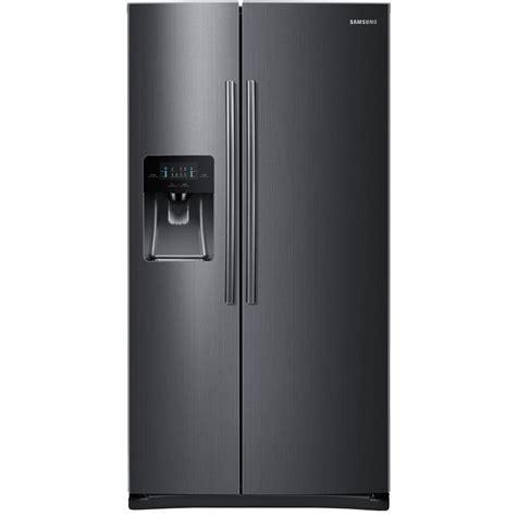 samsung  cu ft side  side refrigerator  black stainless steel