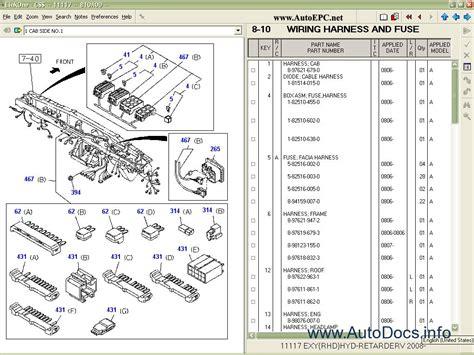 isuzu css net linkone spare parts catalog parts book
