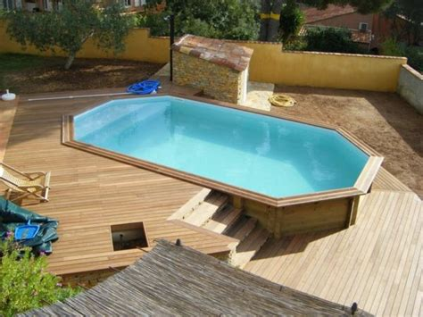piscine bois semi enterre amenagement piscine bois semi enterree
