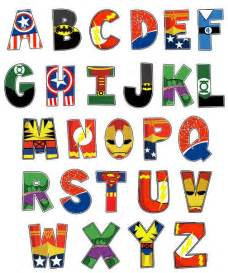 Printable Superhero Letters