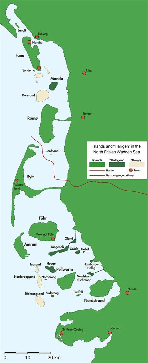 Friesische Inseln Karte