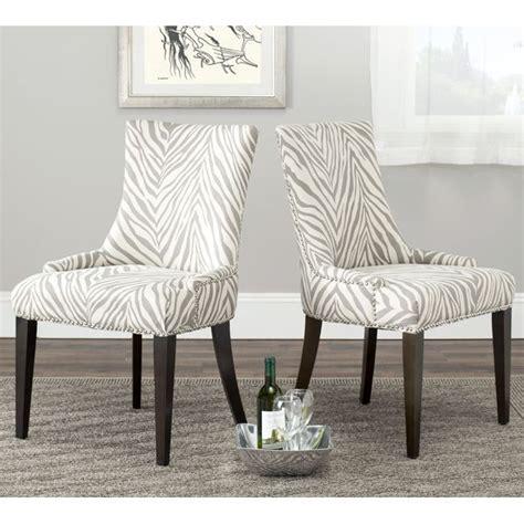 safavieh becca zebra grey dining chair