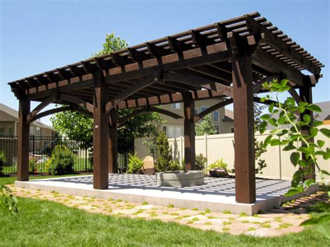 large sized timber framed pergola kit install
