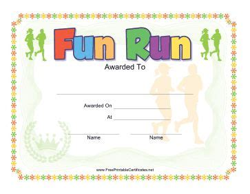 Run Certificate Template by 17 Best Images About Jog A Thon On Dr Seuss