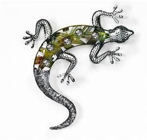 blech bild schmetterling gecko libelle eule uhu wand deko With französischer balkon mit gecko deko garten