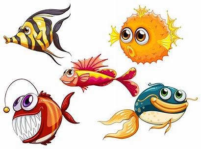 Sea Creatures Vector Background Cartoon Clipart Illustration
