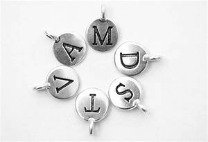 letter charms in silver fine plated tierra cast name With letter charm beads