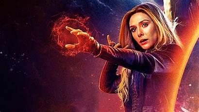 Olsen Elizabeth Avengers Wallpapers Witch Scarlet 4k