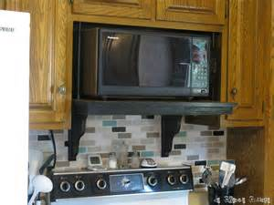 Hide Microwave In Cabinet by Microwave Shelf Update Welcome To The Creative Collage