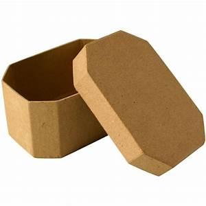 Boite En Carton À Décorer : bo te en carton octogonale 10 cm boite en carton d corer creavea ~ Melissatoandfro.com Idées de Décoration