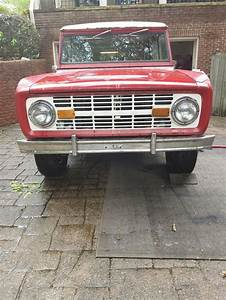 1973 Ford Bronco Red 4wd Manual