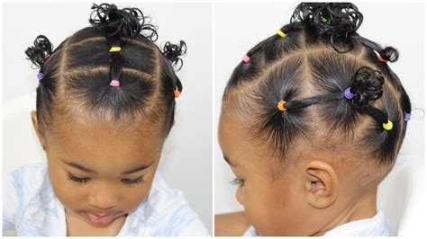 Toddler Hairstyle 👧🏽 Elastic Hairstyle YouTube