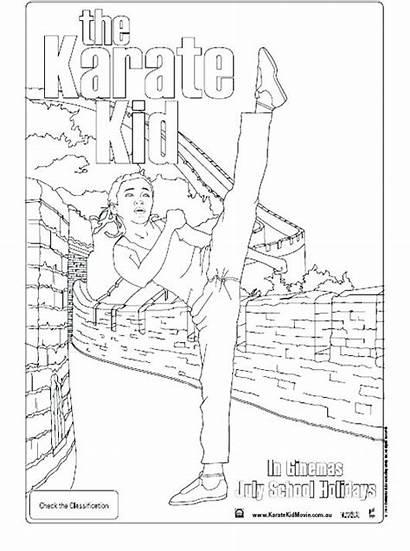 Karate Coloring Kid Pages Pixels Getcolorings Printable
