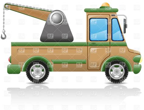 tow truck side view vector image vector artwork