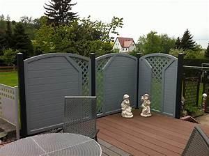 Moderner Terrassensichtschutz In Grauen Dekor