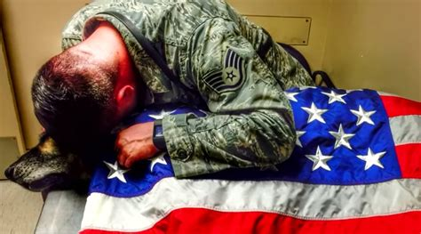 heartbreaking photo shows soldier wrapping  deceased