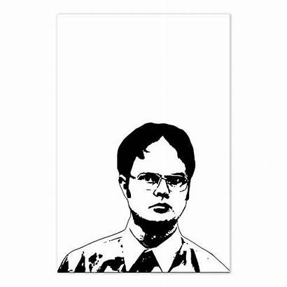 Dwight Schrute Drawing Office Sketch Tv Poster