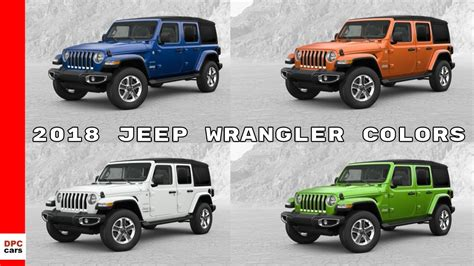 2018 Jeep Wrangler Jl Colors by 2018 Jeep Wrangler Colors