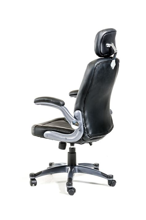 modrest principal modern black office chair w headrest