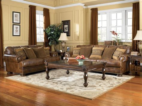 Dark Brown Leather Sofa Living Room