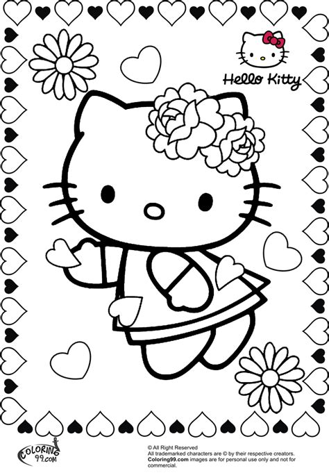 kitty valentine coloring pages team colors