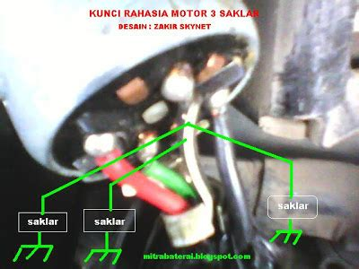 solusi battery cara mudah buat kunci rahasia motor anti maling