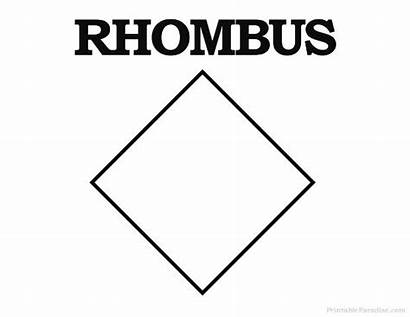 Rhombus Printable Shape Shapes Which Drawing Activities