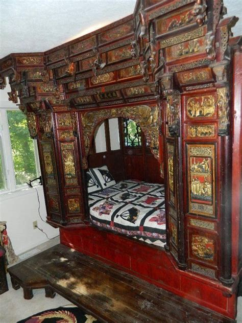 chinese wedding beds images  pinterest