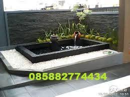 tukang taman murah kolam hias minimalis batu alam