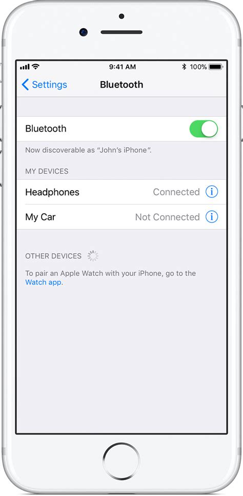 how to put iphone in discovery mode pair a third bluetooth accessory with your iphone