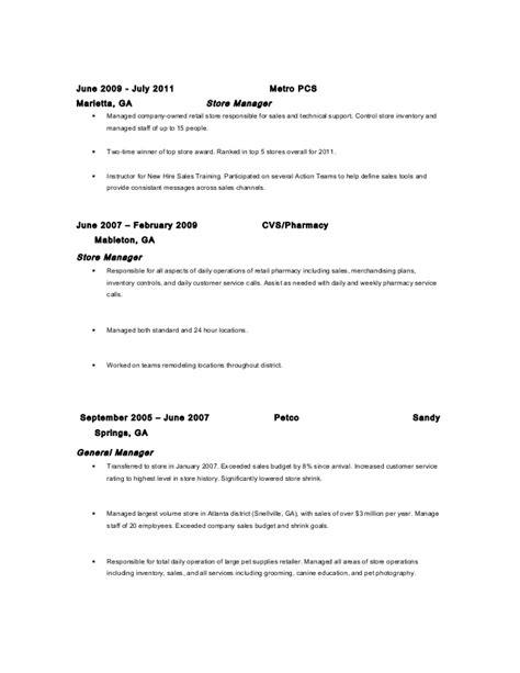 Metro Pcs Resume by Steve Nager Resume