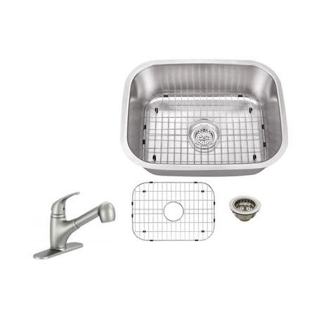 sink kitchen plumbing ipt sink company undermount 23 in 18 stainless 6932