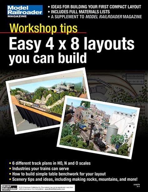Workshop Tips Easy 4 X 8 Layouts Modelrailroadercom