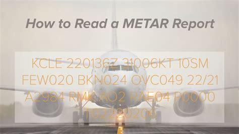 read  metar weather report aerial guide