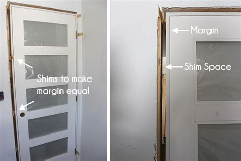 how to shim a door how to install a pre hung door school of decorating