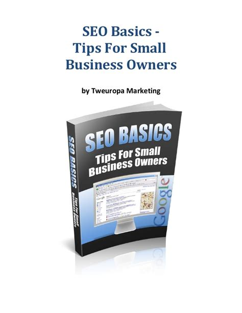 Seo Fundamentals Guide by Seo Basics Guide 2014 For Small Business Owners
