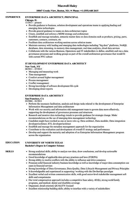 Data Architect Resume by Enterprise Data Architect Resume Sles Velvet