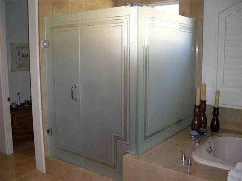 bathroom and shower ideas etched frosted glass doors robinson house decor