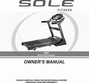 Sole F63 2010 User Manual Treadmill Manuf Thru May Manuals