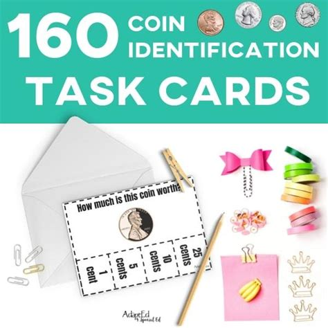 Task Cards: Coin Identification (Printable PDF ...